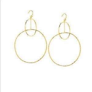 Gorjana Long Hoop Earring, gold